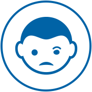 child's face icon